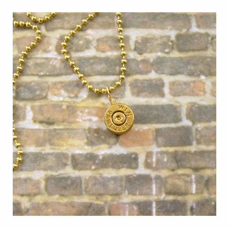 9mm Bullet Pendant Necklace Charm