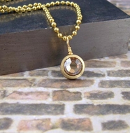 9mm Bullet Pendant Necklace | With crystal