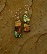 Art Glass Earrings E36