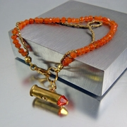 Artisan Bracelet | Carnelian Gemstone | Little Heat