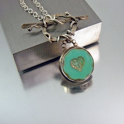 Artisan Silver Necklace with Heart | Lovin It