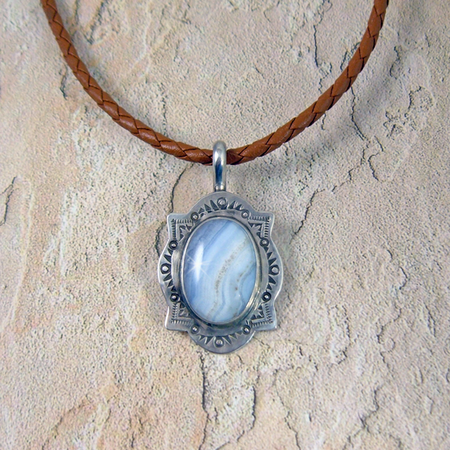Blue Lace Agate - Four Corners