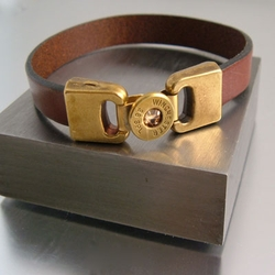 Bullet Head Leather Bracelet 38SPL