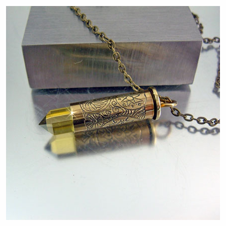 Bullet Necklace | .38SPL | Tumeric