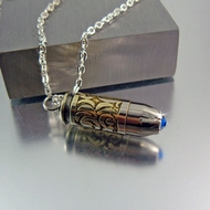 Bullet Necklace | 40 Caliber | Blue Light