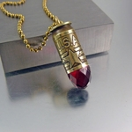 Bullet Necklace | .45 Caliber | USA Red