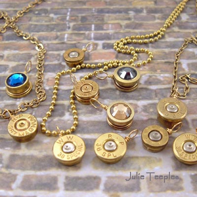 Bullet Necklace Charms   Various Calibers