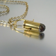 Bullet Pendant | 40mm | Dustin | Smoked Topaz Gemstone
