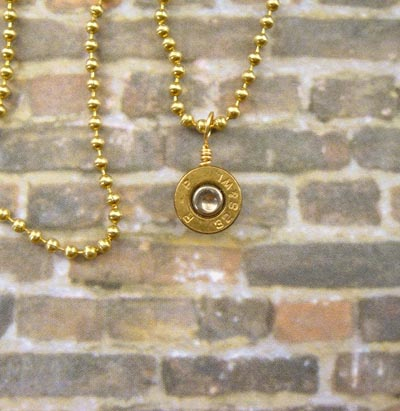 Bullet Pendant Necklace Charm 32 Caliber