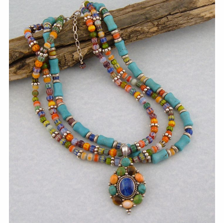Designer Western Necklace - Colors of the West