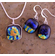Dichroic Earrings and Pendant Set