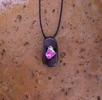 Dichroic Glass Necklace C6
