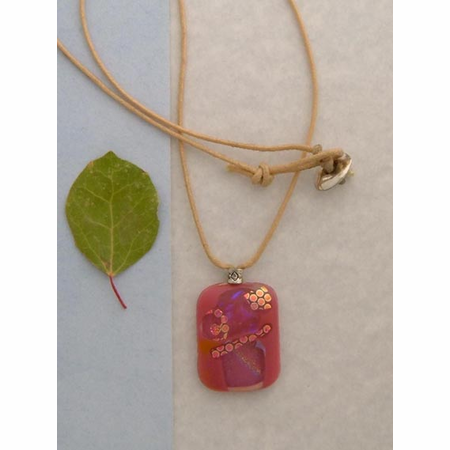 Dichroic Glass Necklace C8