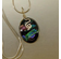 Dichroic Glass Pendant wrapped in Sterling