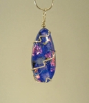 Silver and Dichroic Art Glass Pendant WR998