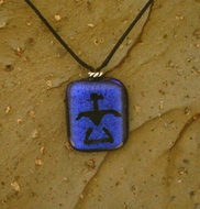 Etched Dichroic Glass Necklace C90