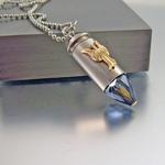 Guardian Angel Necklace | 40mm | Silver-tone Bullet