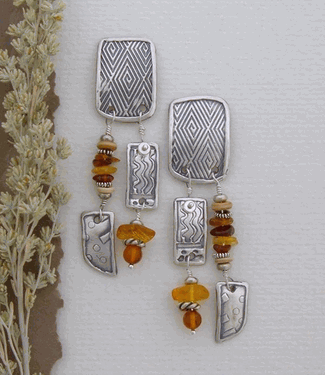Handcrafted Artisan Earrings - Amber Waves