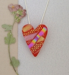 Handcrafted Pendant/Pin Combination - Art Glass Necklace