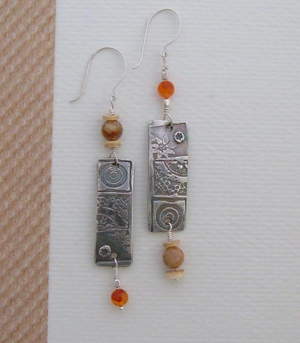 Handmade Earrings - Carnelian Glow
