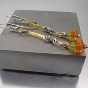 """Honey Amber"" Artisan Handcrafted Earrings"