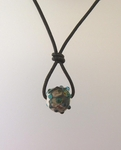 Lampwork Bead on Leather Necklace