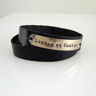 "Leather Wrap Bracelet ""I Struggle But I'll Survive"""