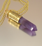 Lavendula | Bullet Pendant Necklace