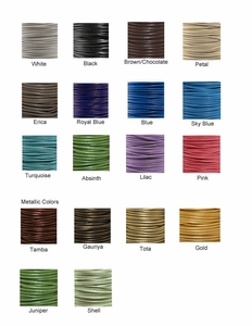 Leather Cord Colors