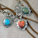 Leather Necklace and Pendant-Charm Holder