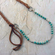 Leather, Turquoise, Silver Necklace