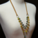 Multi Gemstone Leather Necklace - Grateful