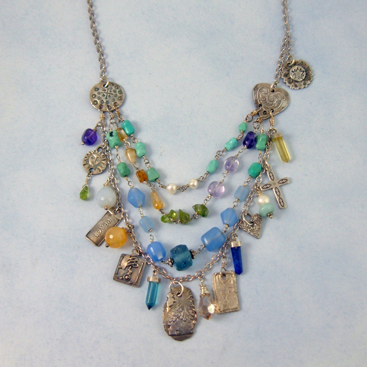 Multi Gemstone Necklace   Nature's Gifts