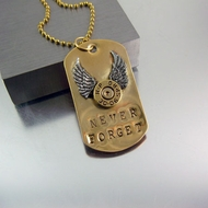 Never Forget | Custom Memorial Dog Tag