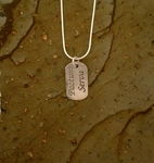 "Pactum Serva  - ""Keep the Faith"" Silver Pendant"