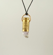 """Purple Lite Haze"" Bullet Pendant Necklace"