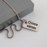 "Quaere verum - ""Seek the Truth"" Silver Pendant"