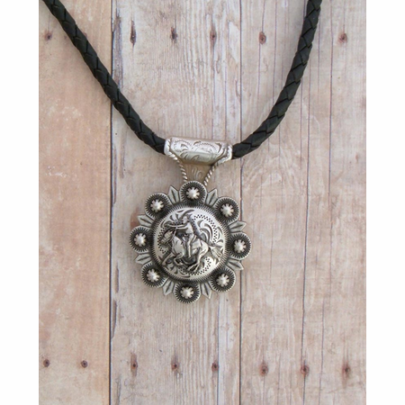 Rider Concho Necklace - Bolo Leather