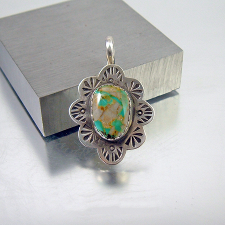 Turquoise Oval Pendant Necklace - Royston