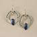 Silver and Lapis Hoop Earrings