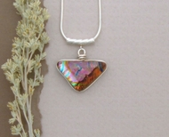 Silver and Dichroic Art Glass Pendant PS14