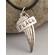 Silver Message Pendant Peace