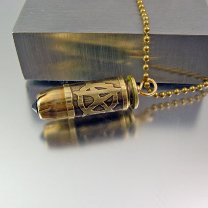 Sons of Anarchy Bullet Necklace   40mm