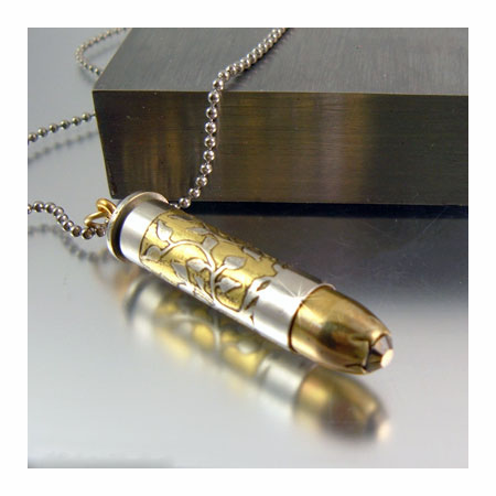 Tree of Life | Bullet Necklace | .357Mag Two Tone