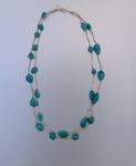 Turquoise and Liquid Silver Necklace