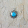 Turquoise and Silver Pendant - Castle Dome Turquoise