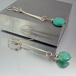 Turquoise Gemstone Artisan Handcrafted Earrings