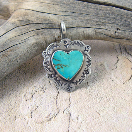 Turquoise Heart in Silver - Royston