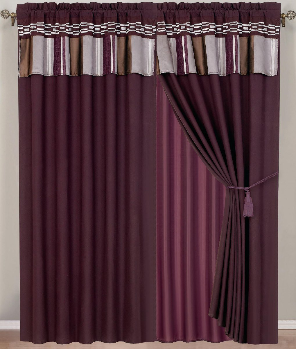 Purple Valance Curtains Solid Purple Color Valance In Many Lengths Custom Size Solid Purple