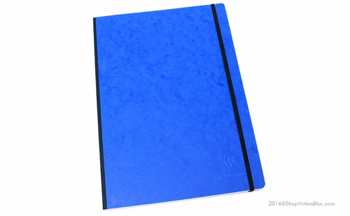 Clairefontaine Basic Cloth-Bound Notebook - Large, Blue, Lined - Click to enlarge